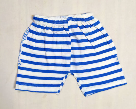 Blue And White Stripe Baby Shorts